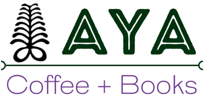 Aya Coffee + Books Logo