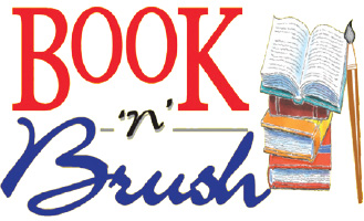 BOOK 'N' BRUSH Logo