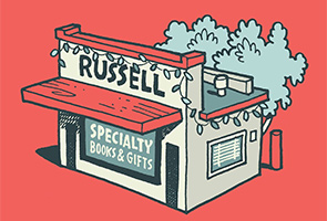 Russell Specialty Books and Gifts Logo