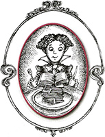 The Voracious Reader Logo