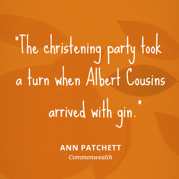 The christening party took a turn when Albert Cousins arrived with gin.