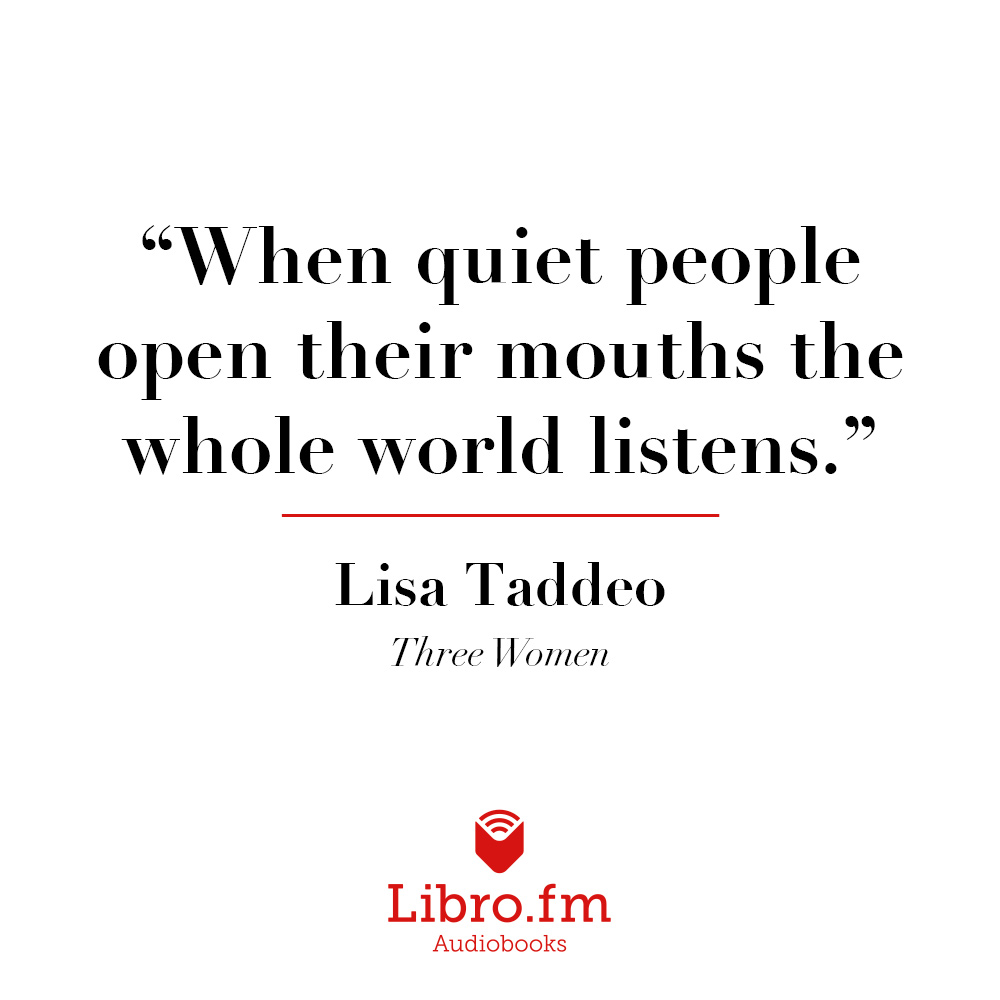 When quiet people open their mouths the whole world listens.