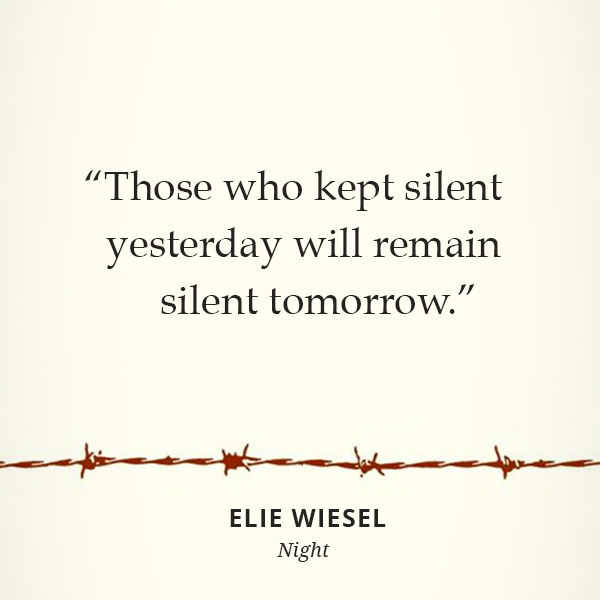 Those who kept silent yesterday will remain silent tomorrow.