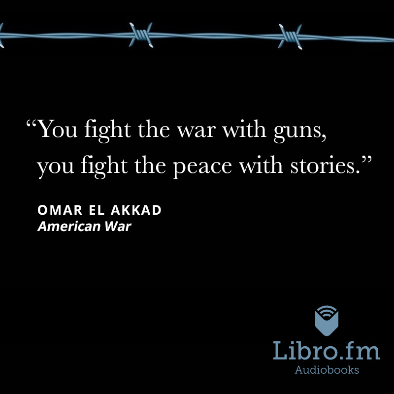 You fight the war with guns, you fight the peace with stories.