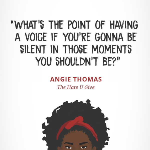 What's the point of having a voice if you're gonna be silent in those moments you shouldn't be?