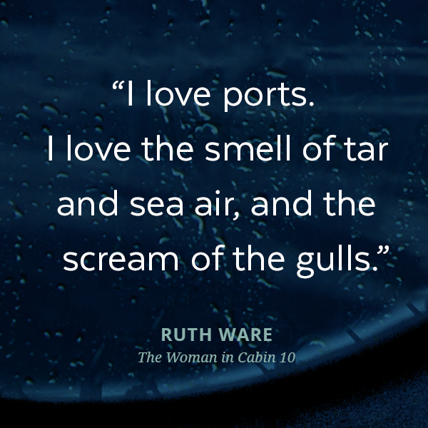 I love ports. I love the smell of tar and sea air, and the scream of the gulls.