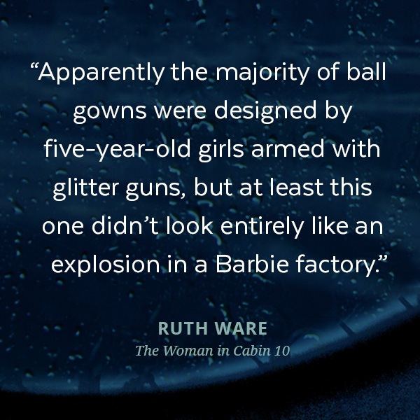 Apparently the majority of ball gowns were designed by five-year-old girls armed with glitter guns, but at least this one didn't look entirely like an explosion in a Barbie factory.